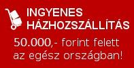 Legalább 20.000,- forint összértékű rendelés esetén ingyenes házhozszállítás az ország egész területén!