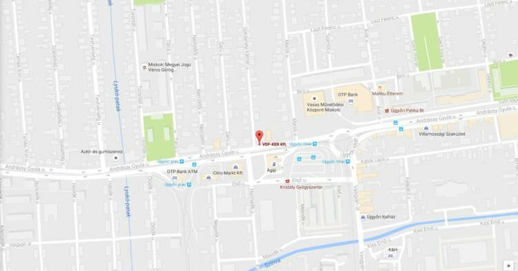 Térkép: Diósgyőri Autósbolt