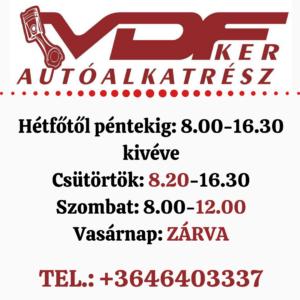 VDF-KER Autósbolt és Autóalkatrész Webáruház