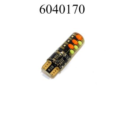 Izzó LED 12V T10 SZINJÁTSZÓ TÁVIRÁNYÍTÓS GZ15271RGB COBT10