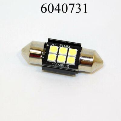 Izzó LED 12V szofita fehér 3SMD 31mm /db extra erős fekete 3x3030 T11x31/SV8,5 SMD-10x31 9-24V
