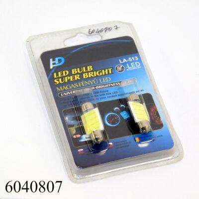 Izzó LED 12V szofita fehér 10led 36mm COB10x36