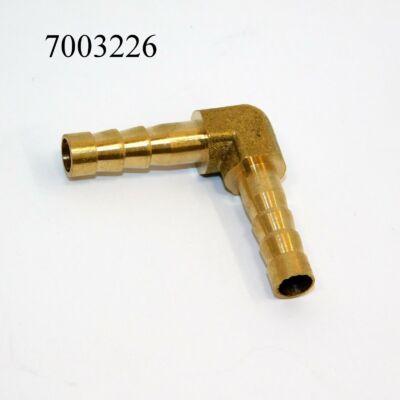 Csőtoldó L-könyök fém 6mm-s