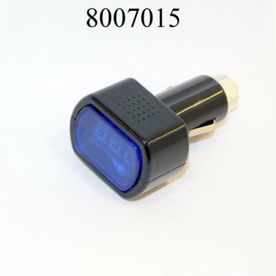 Akkuteszter digitális szivargyújtós AE-WF021 voltmérő feszültségmérő