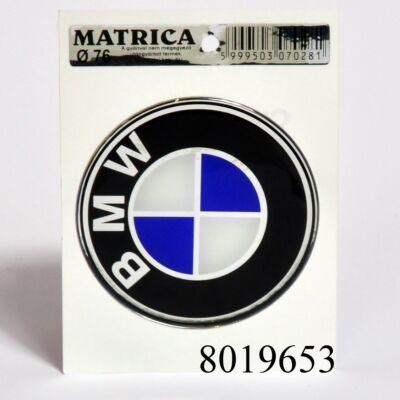 Embléma első BMW  76mm műgyantás