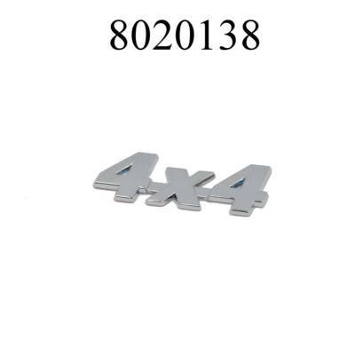 """Felirat króm """"4x4"""" Logo"""