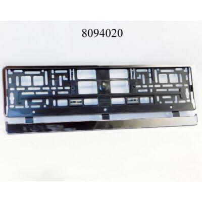 Rendszámkeret krómozott DB-s alsó leces C-91566