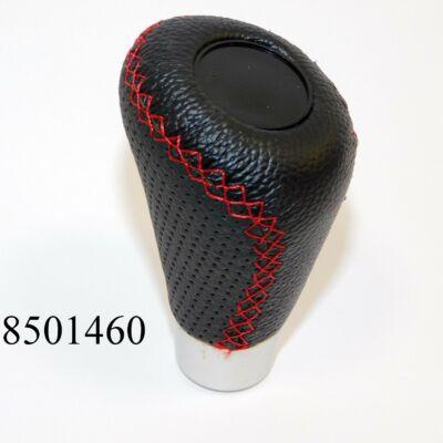 Sebváltógomb bőr fekete-piros SX2505GRR