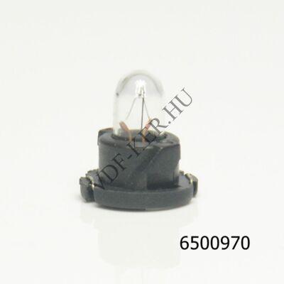Izzó 12V 1.4W műszerfalba T-1/4NW fekete foglalat, ELBX970 talpán érintkezős